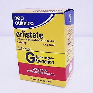 Orlistate 120mg Neo Química 84 Cápsulas