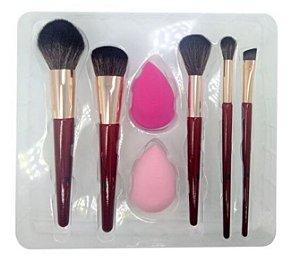 Kit de Pinceis com Esponja para Maquiagem Sabrina Sato