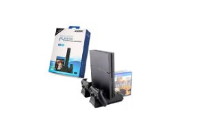 Multifuncional Base Vertical Cooler Carregador Stand Para Ps4