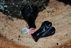 Pingente Anjo de Obsidiana