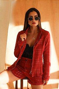 Blazer em tweed
