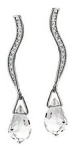 Brinco Rhodium Rommanel Fio Cravejado De Zircônios 121181
