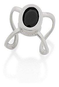 Brinco Piercing Rommanel A Rhodium Com Cristal 121708