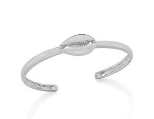 Bracelete Com Búzio Folheado a Rhodium Rommanel 150284