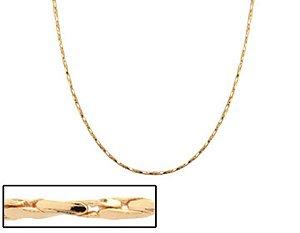 Corrente Folheado A Ouro Rommanel Diamantado
