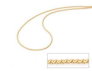 Corrente Folheado A Ouro Rommanel Diamantada