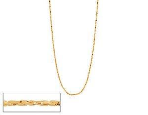 Corrente Folheado A Ouro Rommanel Fio Diamantado