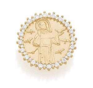 Pingente Rommanel Banhado A Ouro S.francisco De Assis