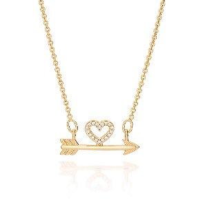Gargantilha com coração Folheado A Ouro Rommanel 531906