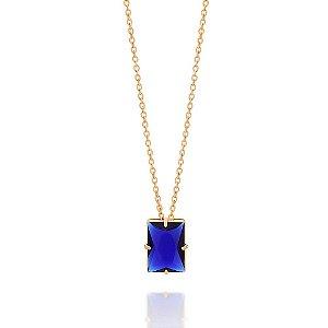 Gargantilha Folheada A Ouro Rommanel Com Cristal 531929