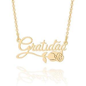 Gargantilha Folheado A Ouro Rommanel Com Pingente  532021