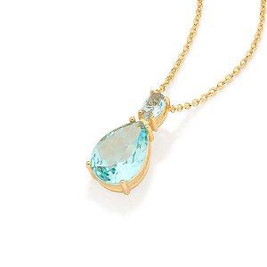 Gargantilha Folheado A Ouro Rommanel Com Cristal 532022