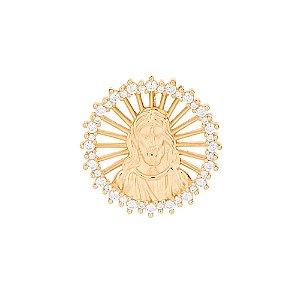 Pingente de Jesus Folheado A Ouro Rommanel 542141