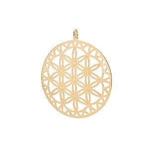 Pingente De Mandala Folheado A Ouro Rommanel 542181