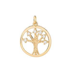 Pingente Árvore Da Vida Folheado A Ouro Rommanel 542182