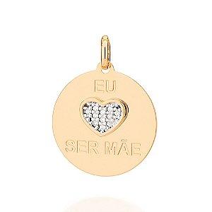 Pingente com Coração Folheado A Ouro Rommanel 542187