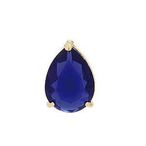 Pingente De Cristal Gota Folheado A Ouro Rommanel 542205