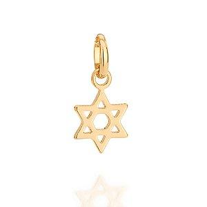 Pingente estrela de davi Folheado A Ouro Rommanel 542213