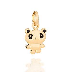 Pingente Urso Panda Folheado A Ouro Rommanel 542232
