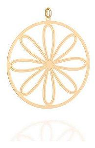 Pingente De Mandala Folheado A Ouro Rommanel 542239
