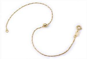 Tornozeleira com bola Folheado A Ouro Rommanel 550352