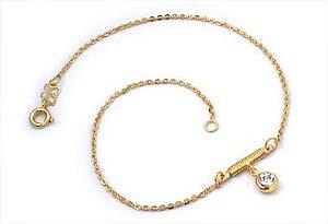 Tornozeleira com Berloque Folheado A Ouro Rommanel 550355