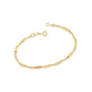 Pulseira fio grumet fino Folheado A Ouro Rommanel 550423