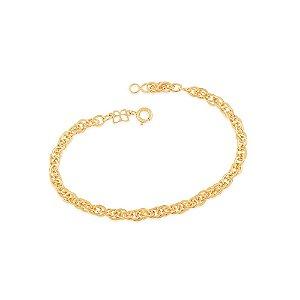 Pulseira De Fio Cadeado Folheado A Ouro Rommanel 550755