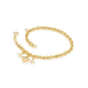 Pulseira Com Berloques Folheado A Ouro Rommanel 550906