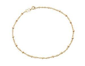 Tornozeleira Com Bolinhas Folheado A Ouro Rommanel 551061