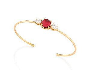 Bracelete com Cristal Folheado A Ouro Rommanel 551508