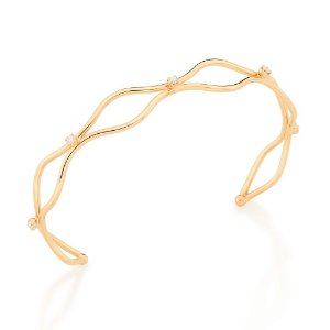 Bracelete Folheado A Ouro Rommanel Com Zircônias 551645