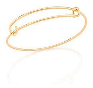 Bracelete  aro liso Folheado A Ouro Rommanel 551661