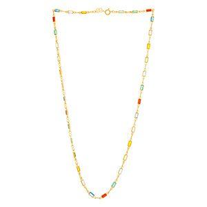 Gargantilha Rommanel Folheado A Ouro Pedras Coloridas 530874