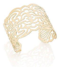 Bracelete Aro Largo Aberto Rommanel Folheado A Ouro 551611