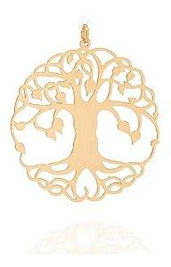 Pingente Árvore Da Vida Folheado A Ouro Rommanel 542255