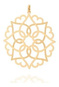 Pingente Mandala Solar Folheado A Ouro Rommanel 542254