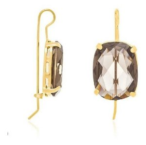 Brinco Folheado A Ouro Rommanel Com Cristal 523729