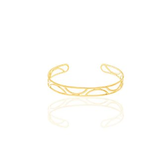 Bracelete Folheado A Ouro Rommanel Vazado  551524