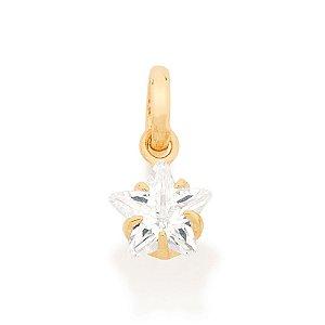 Pingente Estrela De Zirconio Folheado A Ouro Rommanel 541592