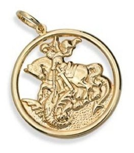 Medalha De São Jorge Folheada A Ouro Rommanel 541256