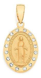 Medalha N° Sra Das Graças Folheado A Ouro Rommanel 540919