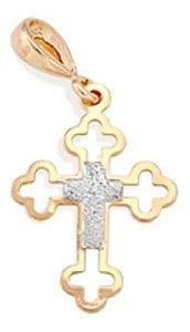 Pingente Crucifixo Folheado A Ouro Rommanel 540609