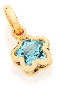 Pingente De Flor Folheado A Ouro Rommanel Com Cristal 540597