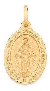 Medalha Folheado A Ouro Rommanel De N° Sra Das Graças 540501