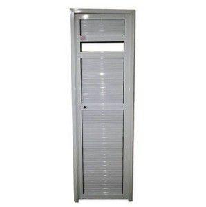 Porta P/ Sauna Aluminio Esquerda SOCALOR Prata