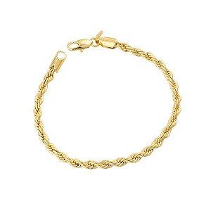 Pulseira Cordão Baiano Folheada em Ouro 18k - BCF215