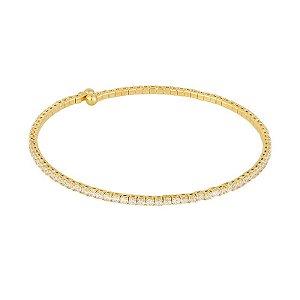 Bracelete Riviera Ajustável Folheado em Ouro 18k - BCF499