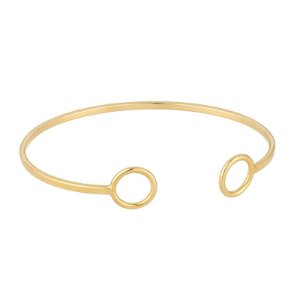 Bracelete Círculos Ajustável Folheado em Ouro 18k - BCF513