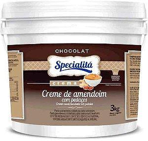 Recheio Creme De Amendoim C/ Pedacos 3kg - Duas Ro